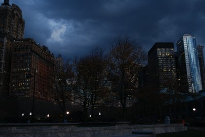 Moody Photo of Financial District from Battery Park at the Waterfront