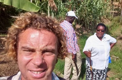 Unflattering selfie at REAP demonstration farm