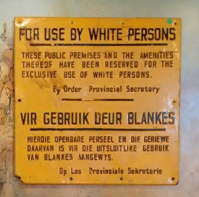 Sign at District 6 Museum
