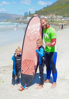 Surfing Lesson on Muizenburg Beach