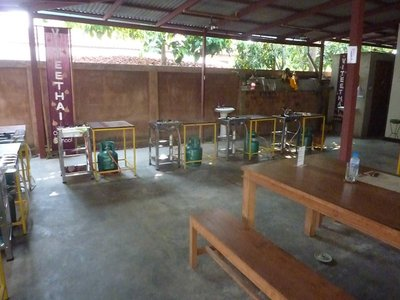 The view inside the cookery school; I was the only student booked that day so I had one-to-one tuition