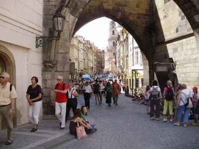 Prague Streets - archway