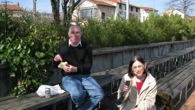 Lunch by the port in Roanne