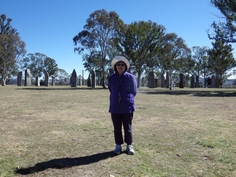 Hiroe at Glen Innes Standing Stones