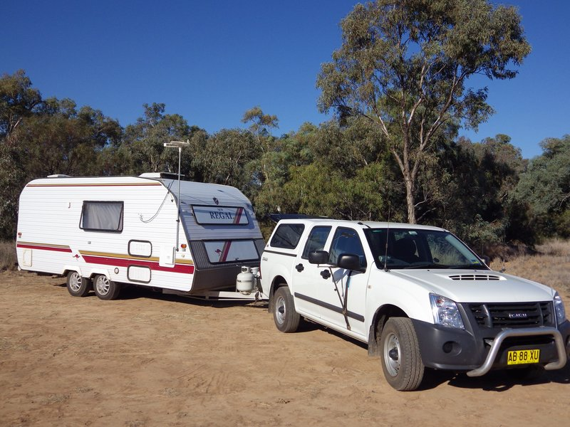 Campspot near Quilpie banks of Bulloo River