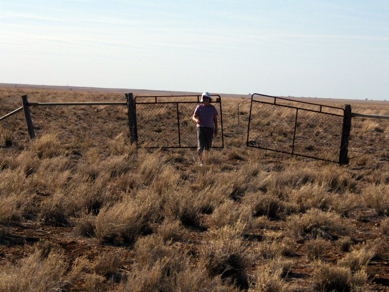 Hiroe at gate to NOWHERE