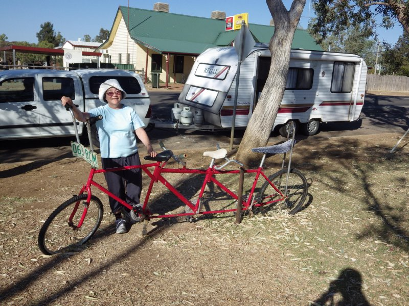 2013 Sep 5 Hiroe and 3 seater bike at Ilfracombe
