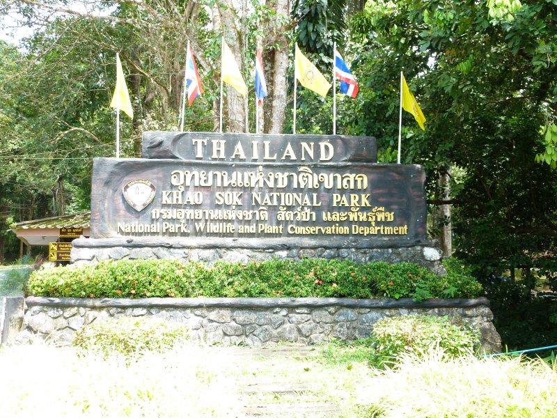 Khao Sok National Park Sign