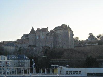 Château de Dieppe from the beach