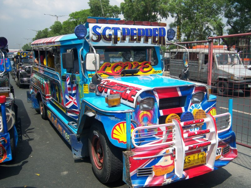 One of the many Jeepneys