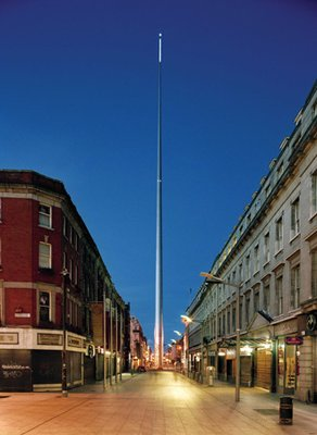 "The Spire is know as ""The Stiletto in the Ghetto"", ""The Nail in the Pale"", ""The Pin in the Bin"", ""The Stiffy at the Liffey"", and ""The Rod to God""."