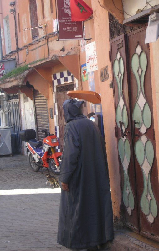 Man in djellaba, Marrakech