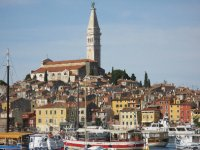 View of Rovinj on our way out of town