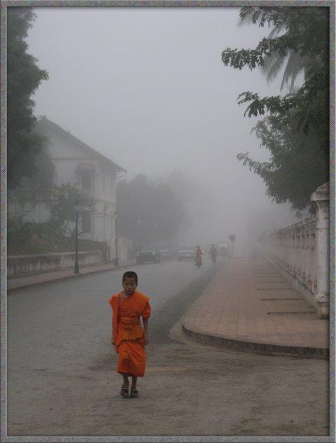 Monk in Fog