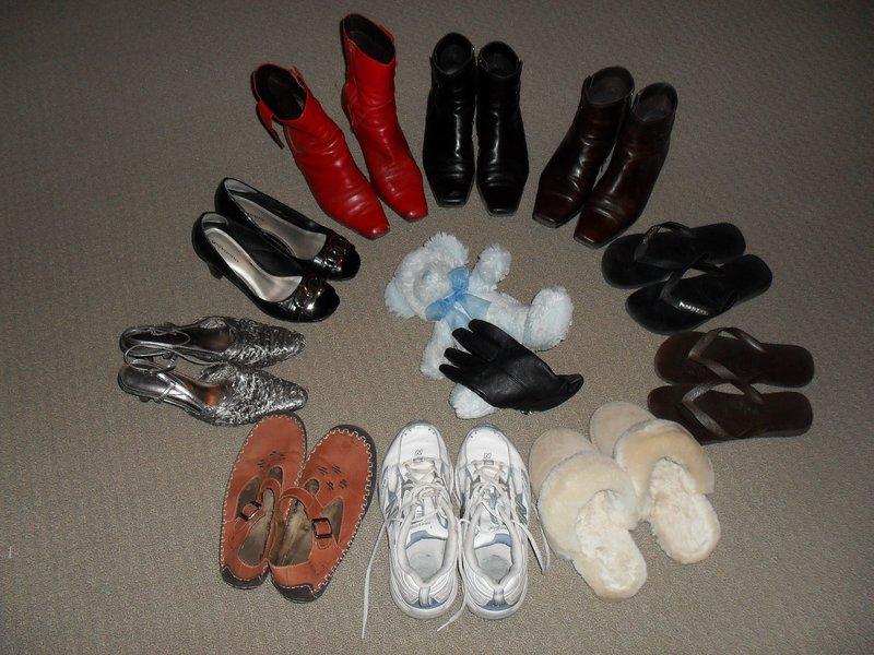 The shoe option. Blue Teddy's dilemma