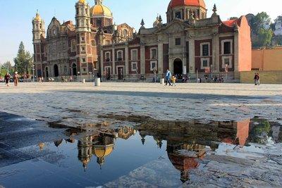 Basilica reflected