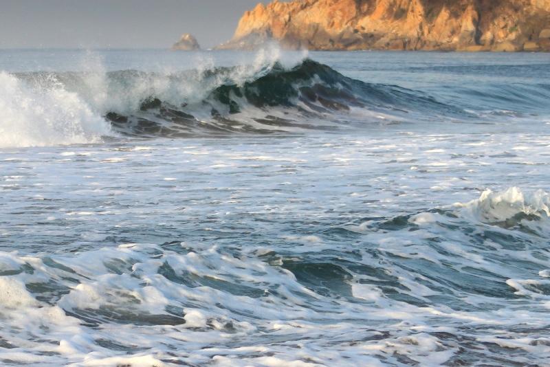 Waves on Acapulco coast