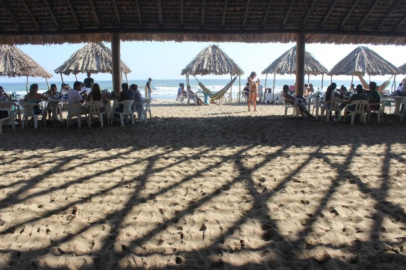 Sun and shade on the beach