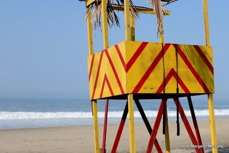 Beach watch tower