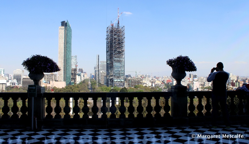 View over Mexico City from Chapultepec Castle