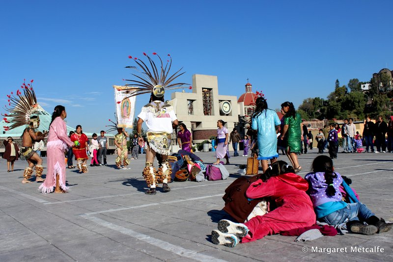Aztec Indian dancing at the Basilica
