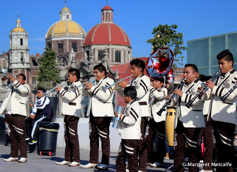 Music band playing at the Basilica