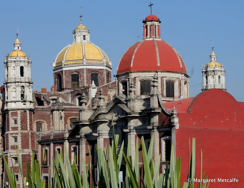 Red and yellow domes