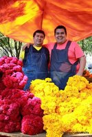 Flower sellers on Day of the Dead