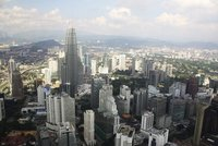 Petronas Twin Towers From KL Tower