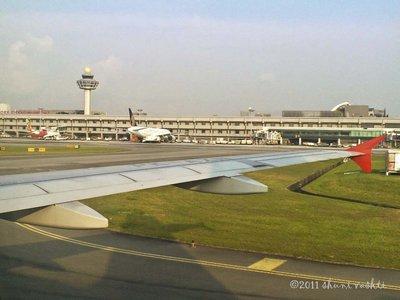 Touching Down Changi Airport