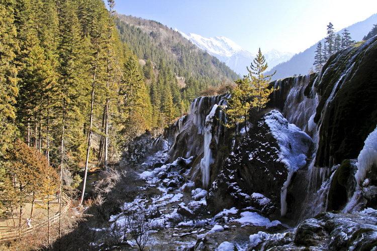 Jiuzhai Valley in Winter