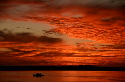 Fiery Dawn Over Isla San Jose