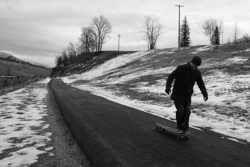 Longboarding in Winter