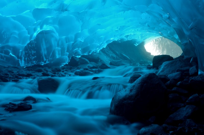 Ice Cave Waterfall
