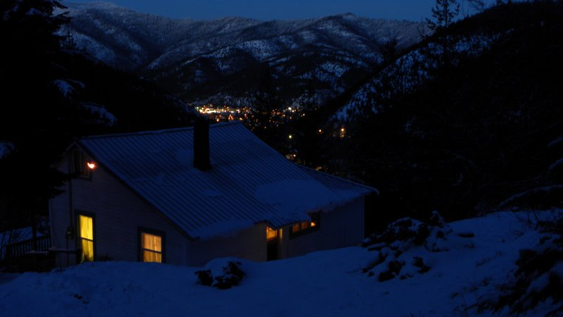 The Wardner House at Night