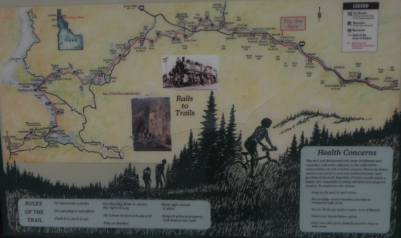 The Trail of the Couer d'Alene Trailmap