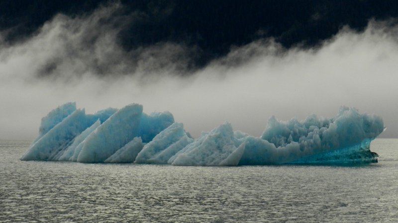 Ice Berg and Rising Mist