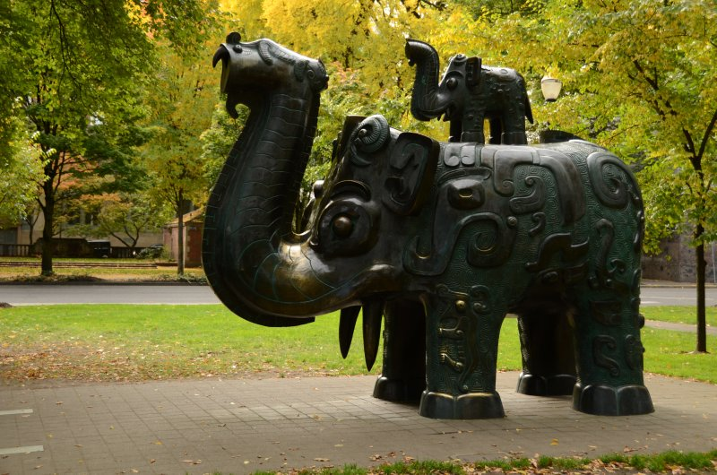 Bronze Elephants