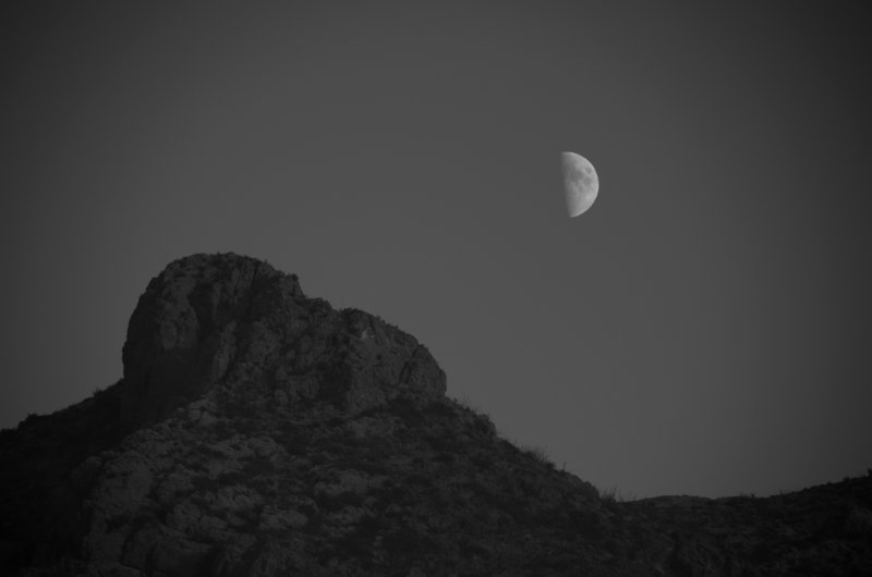 Moon over Mountain