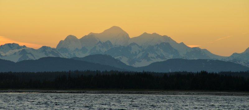 Fairweather Mountain Sunset
