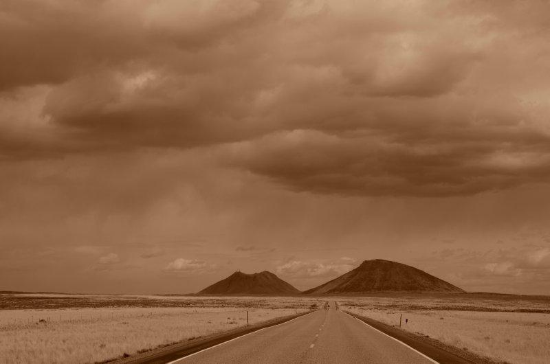 Idaho Road and Clouds