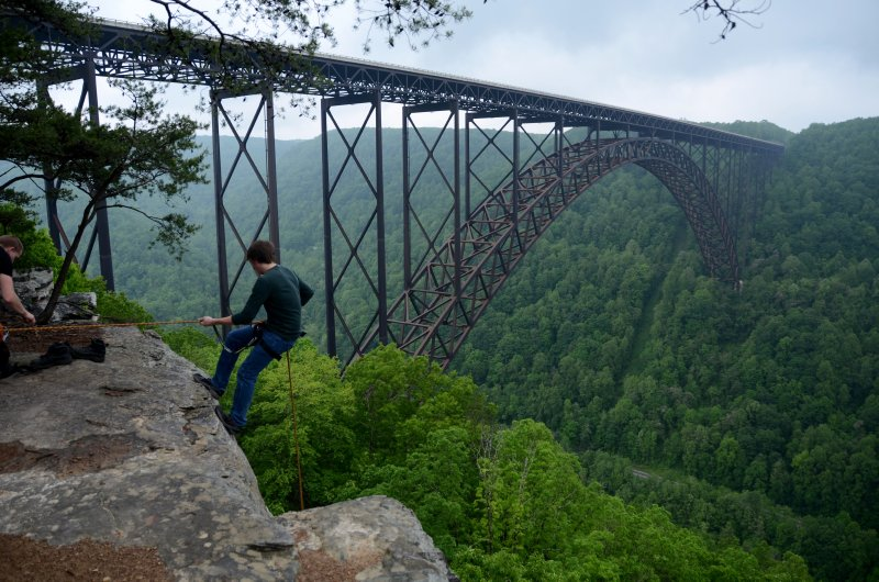 Abseilling and the New River Gorge Bridge