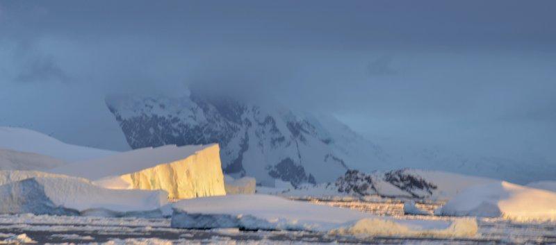 Glowing Iceberg