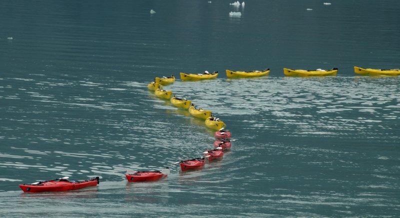Curving Kayaks