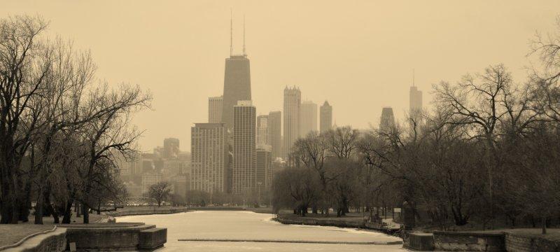 Frigid Chicago Scene