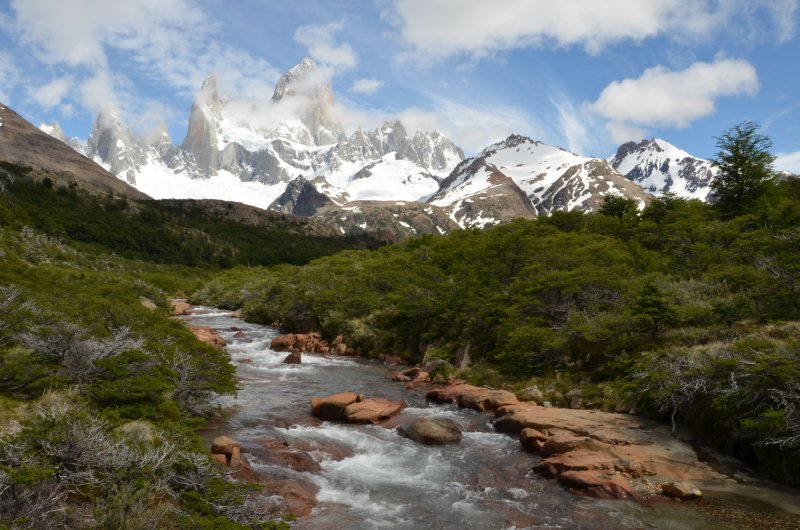 Rio Del Salto and The Fitz Roy Range