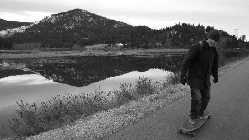 Mirror Reflection Along Trail