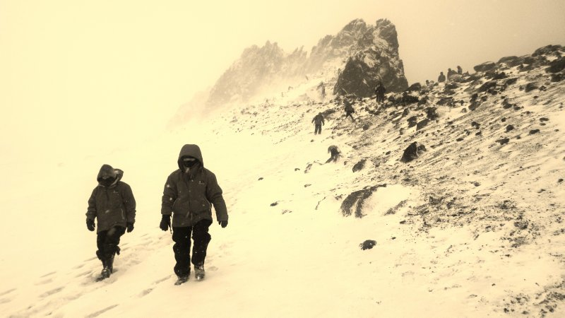 Descent In White