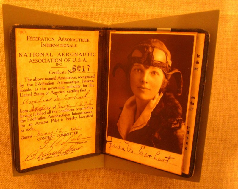 Amelia Earhart's Pilot Liscence