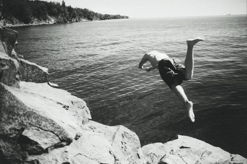 Diving into beautiful Lake Superior